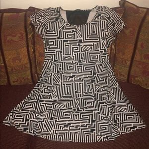 Plus Size Forever 21 Black White Casual Dress 1X